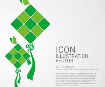 Kite Icon Illustration