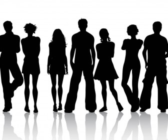 People Silhouettes Vector Illustration