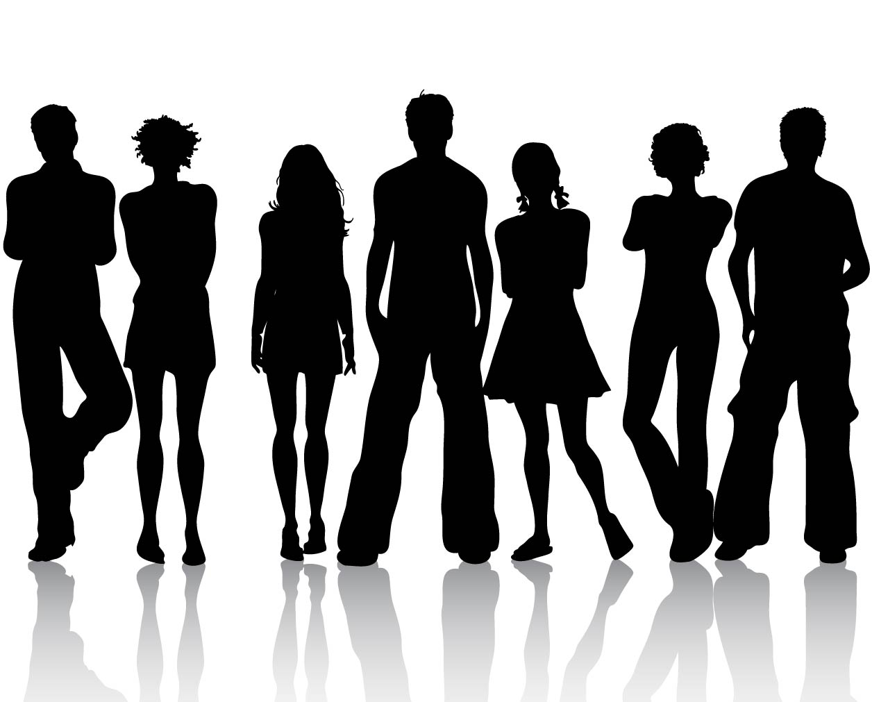 People Silhouettes Vector Illustration - Ai, Svg, Eps ...