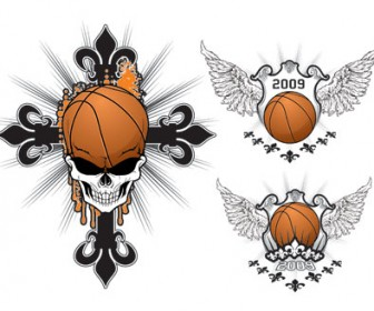 Basketball Skull Logo