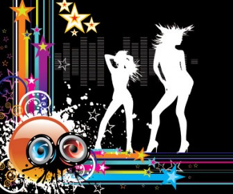 Party Girl illustration Vector