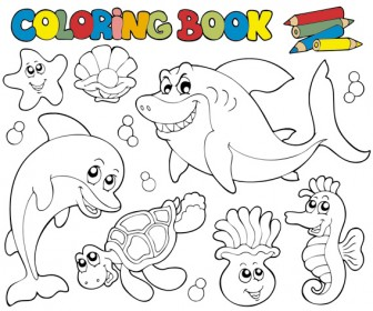 Coloring book vector