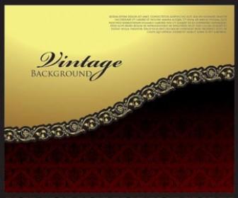 Gold Black Vintage Background