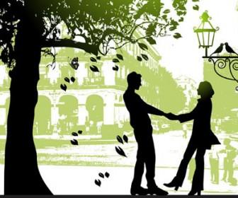 Loving Couple Illustration