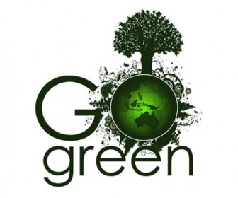 Green Planet Card Background Vector