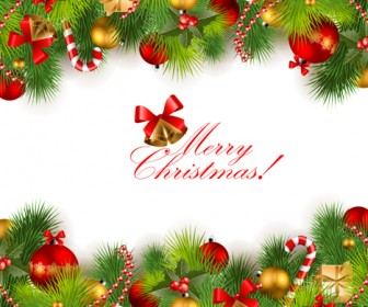 Christmas Background Decoration Vector