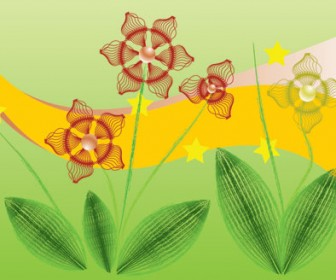 Psychedelic Flower Free Vector