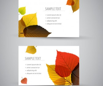 Leaves Business Card Nature Template