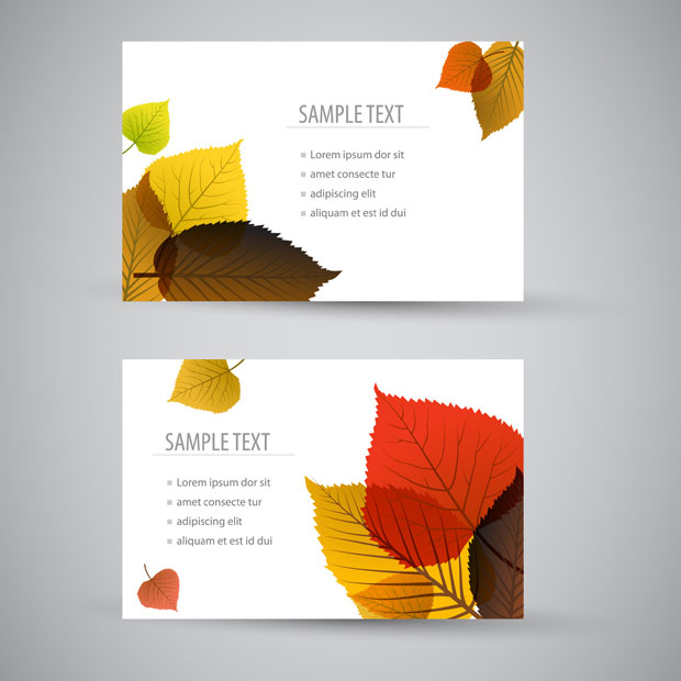 Leaves business card nature template ai svg eps vector free download leaves business card nature template reheart