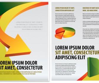 Arrow Business Brochure Template Vector