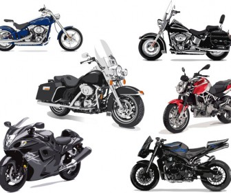 Realistic Motorcycle Vector Pack