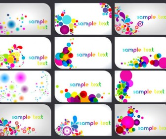 Colorful business card vector pack