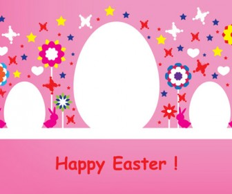 Happy Easter Pink Card