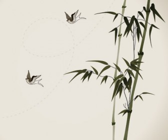 Bamboo Branches Vector Illustration