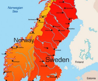 World Map Sweden