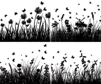 Grass Silhouette Illustration Vector