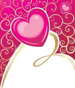 Vector Abstract Pink Heart