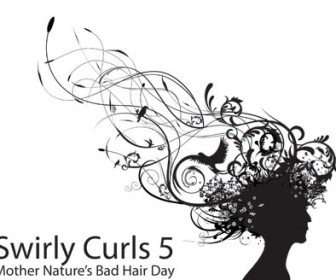 Swirly Curls Hair Vector