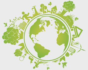 Green Earth Logo Illustration Vector