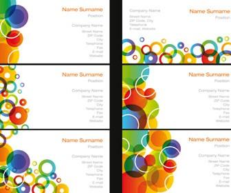 Colored Circles Card Vector Illustration