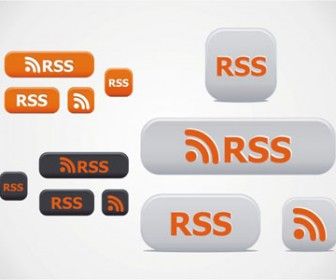 Rss Buttons Vector Pack