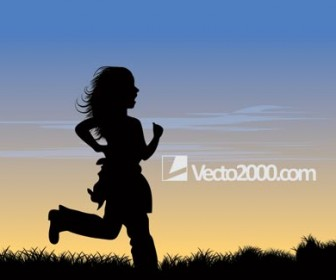 Female Runner Silhouette