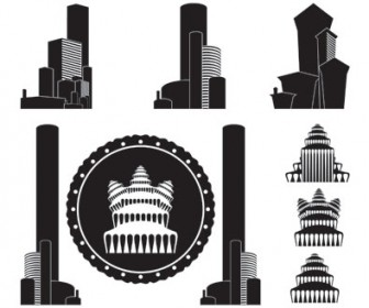 Vector City Building Silhouette