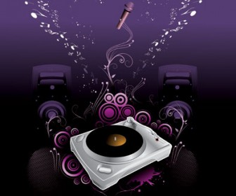 Music Illustration Vector Background