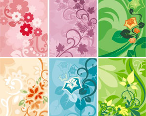 Abstract floral ornamental background