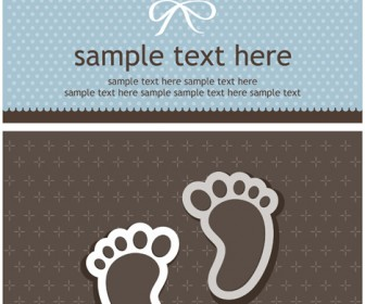 Baby Foot Vector Card Background