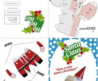 Santa Claus Card Design