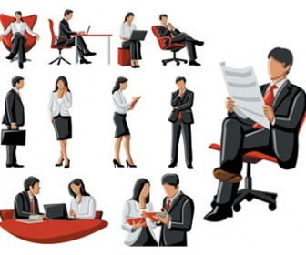 Free VEctor Business People Illustration