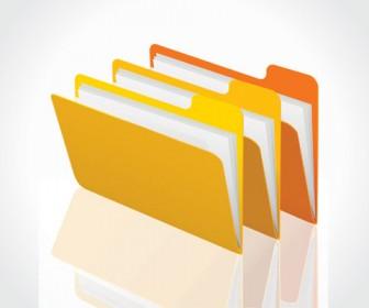Vector folders icon