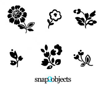 6 Floral Vector Simple Design