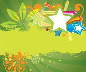 Grunge Vector Green Background