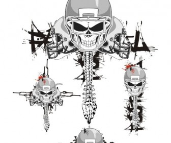 Skeleton FootBall Helmets