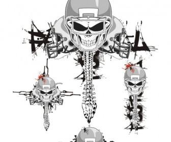 Skeleton FootBall Helmets