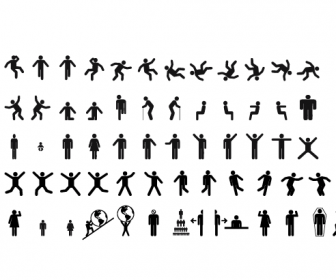 Human sign pictograms