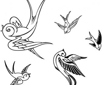 Vector Birds – Sparrows