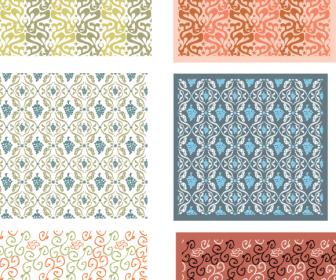 4 Free Patterns Vintage Color