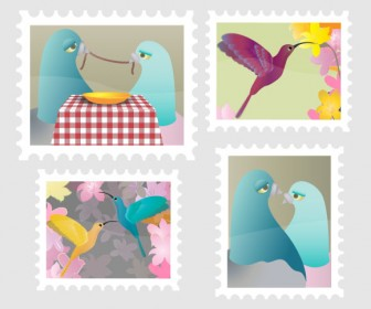 Birds Stamp Collection