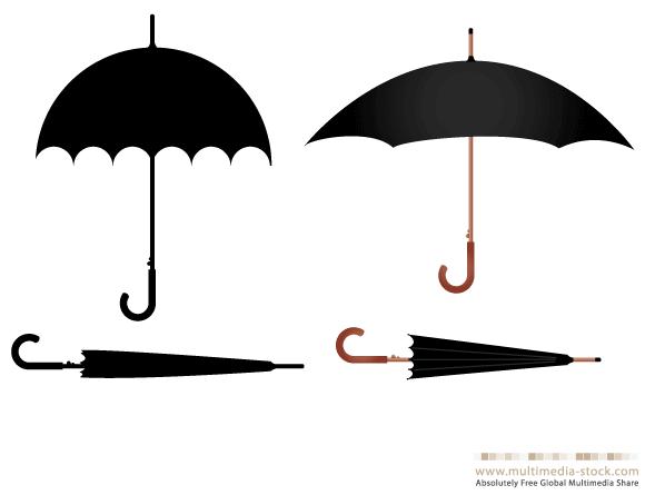 Umbrella Vector Set - Ai, Svg, Eps Vector Free Download