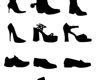 Shoe Vectors Silhouettes