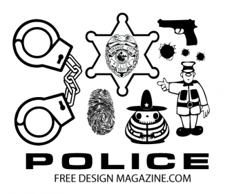 Police Silhouette Vector Pack