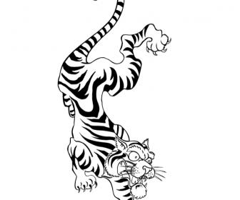 Tattoo Style Tiger