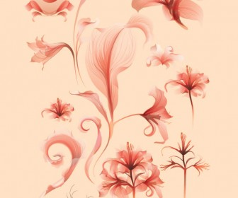 Red Flower Vector Pack