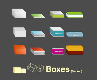 11 Free Vector Boxes