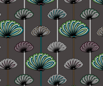 Flower Vector Patterns Swatch