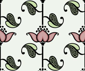 Flower Seamless Heart Pattern