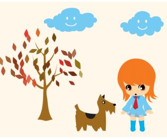 Aiko Walking Her Doggie